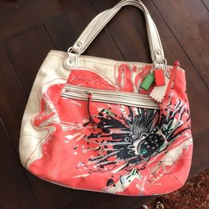 Coach poppy place flower tote
